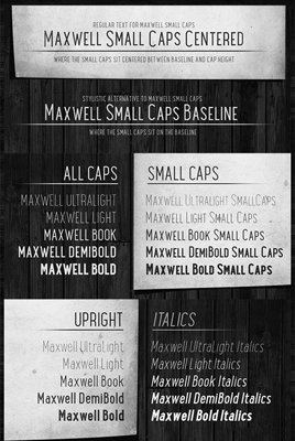 Maxwell San Serif Typeface [20-Weights]