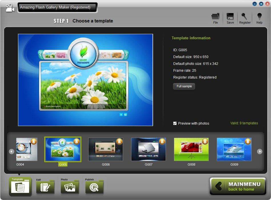 Amazing Flash Gallery Maker 2.5.0