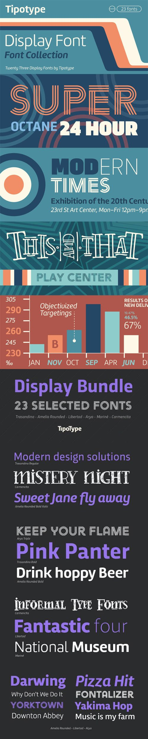 TipoType Display Font Bundle [23-Weights]