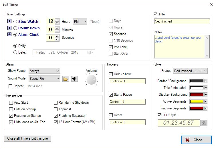 Programming Jumbo Timer 3.2.0