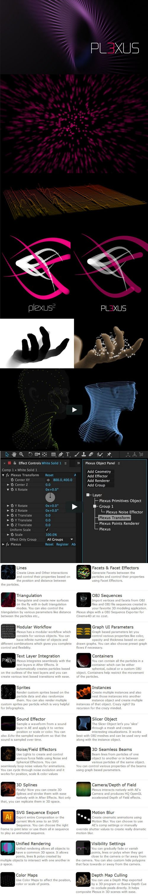 Rowbyte Plexus 3.1.13 Plugin for Adobe After Effects