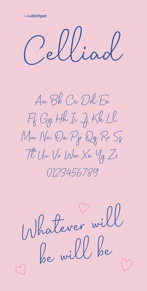 Celliad - Handwriting Typeface