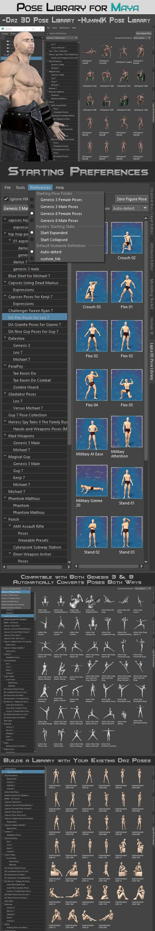 LayLo3D Pose Library for Maya [WIN]