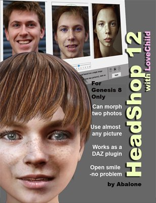 HeadShop 12.5 with LoveChild for Genesis 8 (WIN)