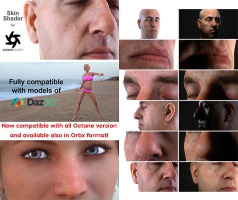 Blender and Orbx version of the Skin Shader For Octane Render 1.0.2