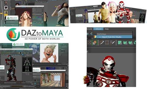 DAZtoMaya 1.0 - Maya Bridge