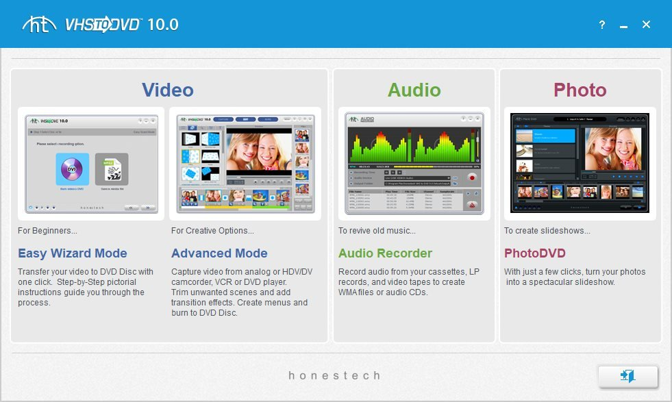 honestech VHS to DVD 10.0 Deluxe 10.0.13 Multilingual