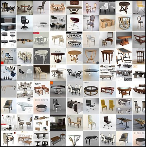 244 Models - 3DDD Pro Table & Chair Vol.01 - 3D Models