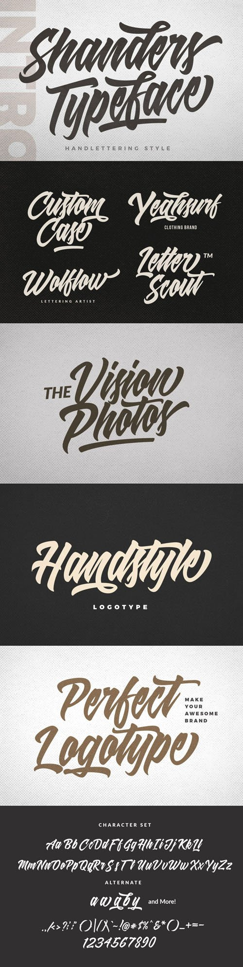 Shanders Typeface - Handlettering Style