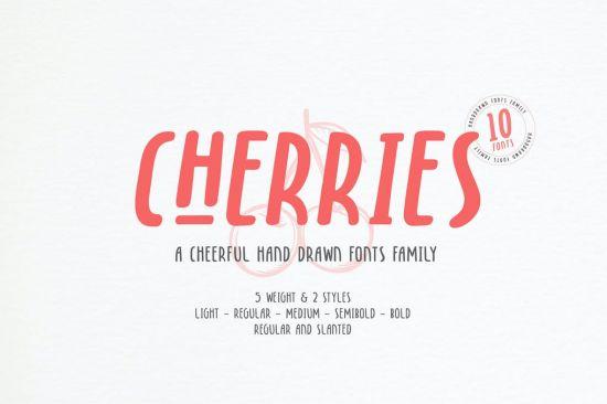 Cherries   10 Fonts