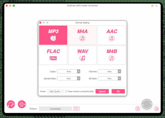 AudFree DRM Audio Converter 2.3.0 Multilingual