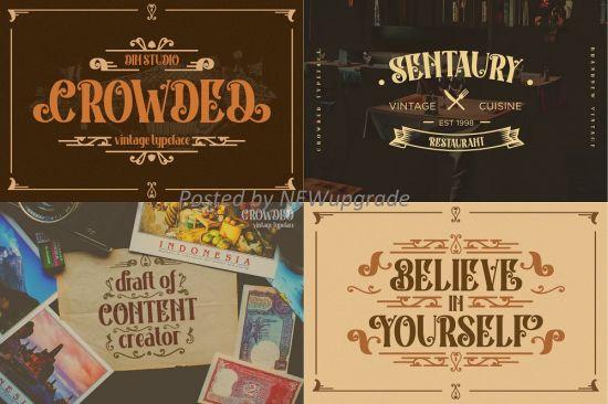 Creativemarket   Crowded   Vintage Font 5200859