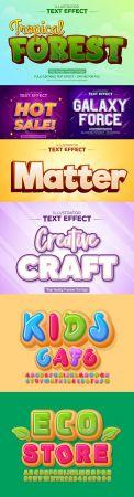 Editable font effect text collection illustration design 146