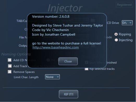 BaseHead Injector PC 2.6.0.8