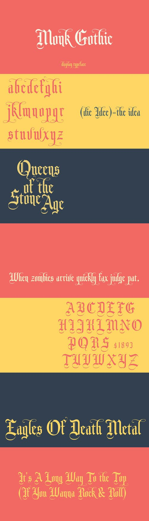 Monk Gothic Display Font
