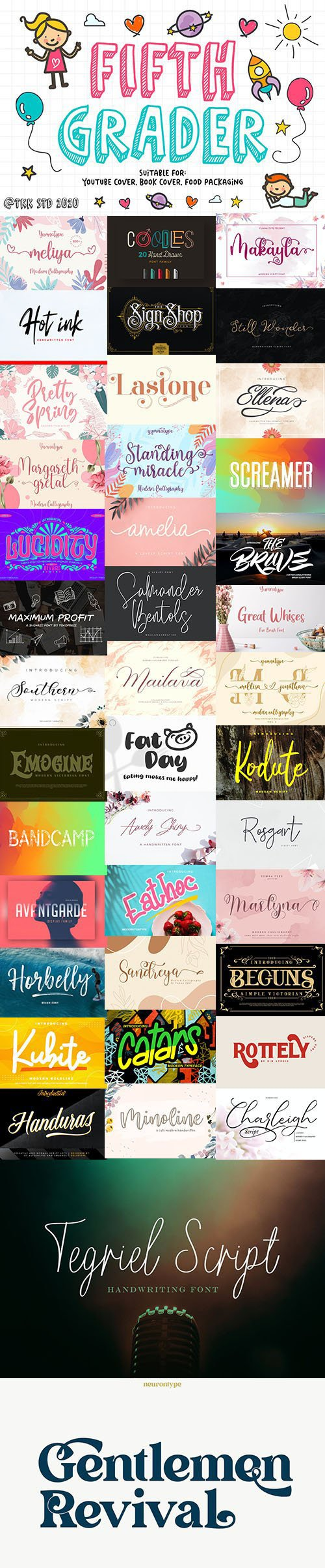 Super Fonts Pack - July 2020 - 42 Fonts