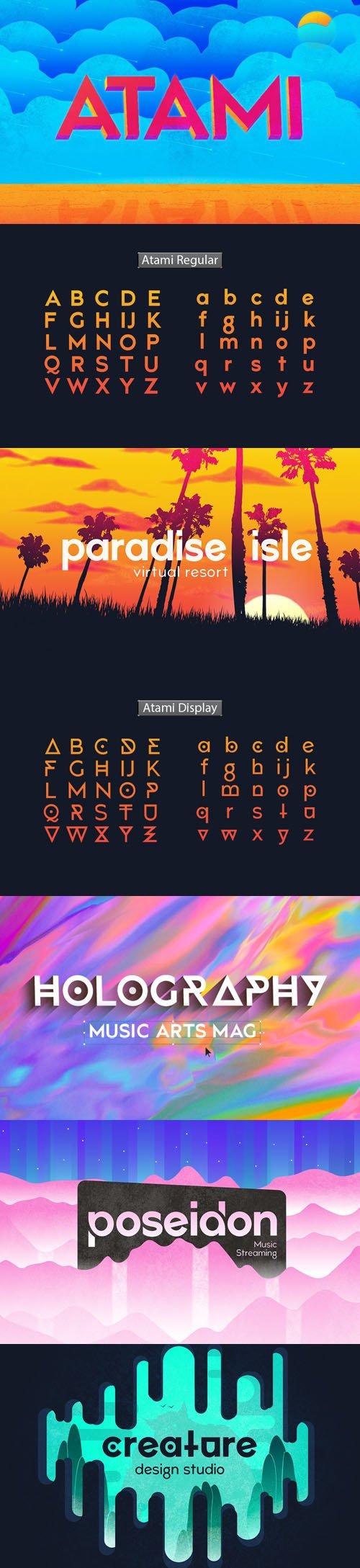 Atami - Modern Sans Serif Font [6-Weights]