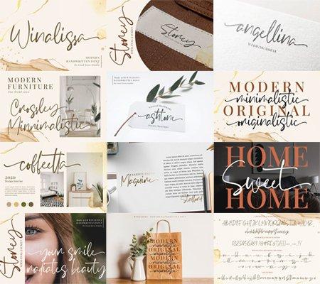 Winalissa - Modern Signature Font
