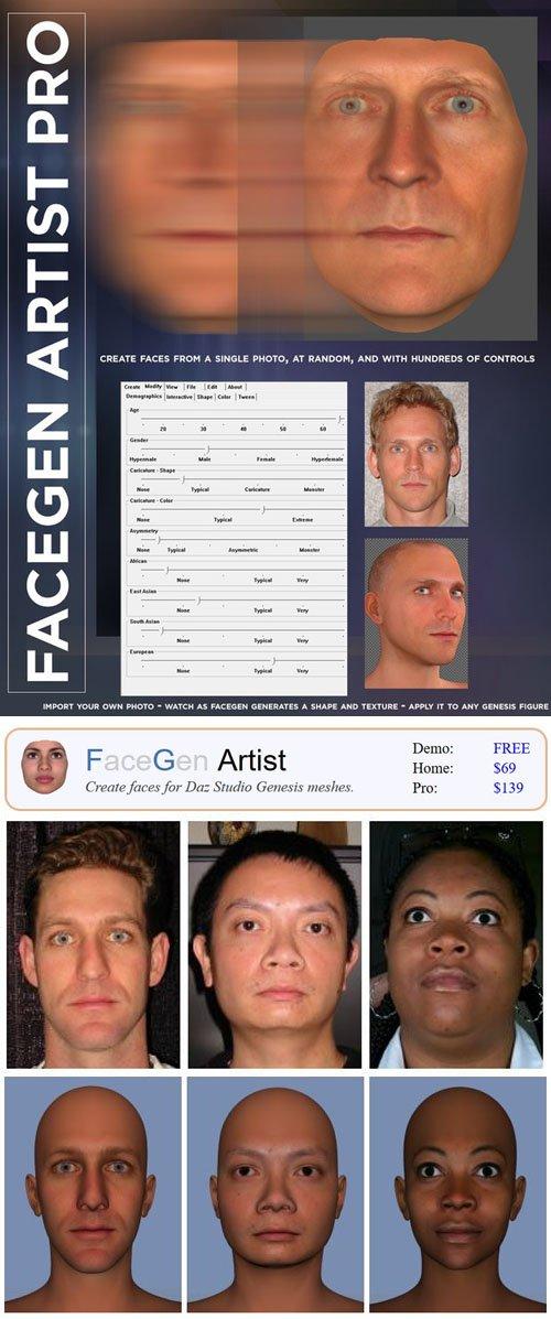 FaceGen Artist Pro 3.4 [WIN]
