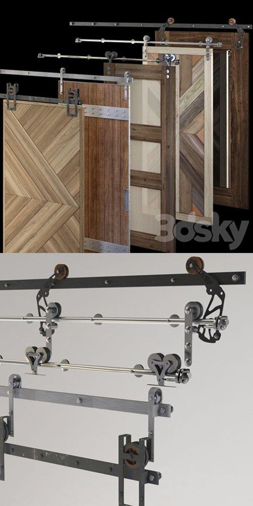 Rails for Sliding Doors - 3D Models