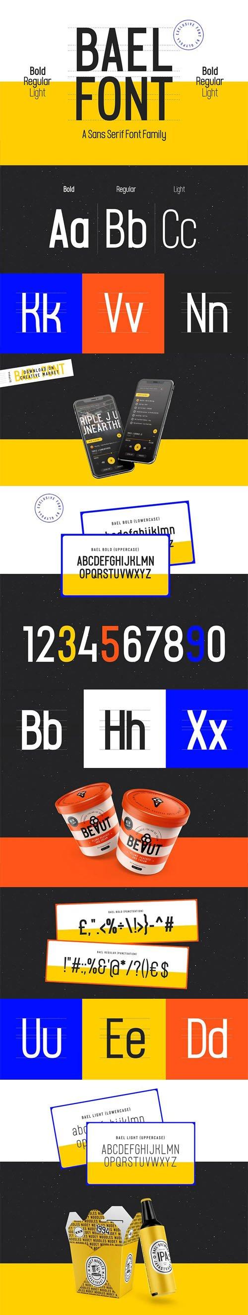 Bael Light - A Sans Serif Font