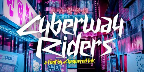 Cyberway Riders Font