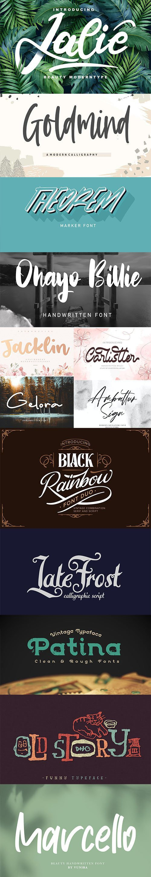 13 Creative Fresh Fonts Collection