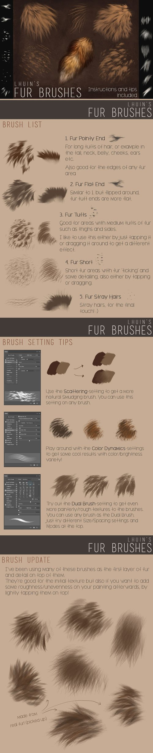 Fur Brushes for Photoshop + Update