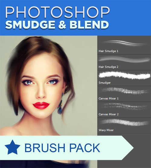 Smudgers & Blenders - Photoshop Brushes Pack