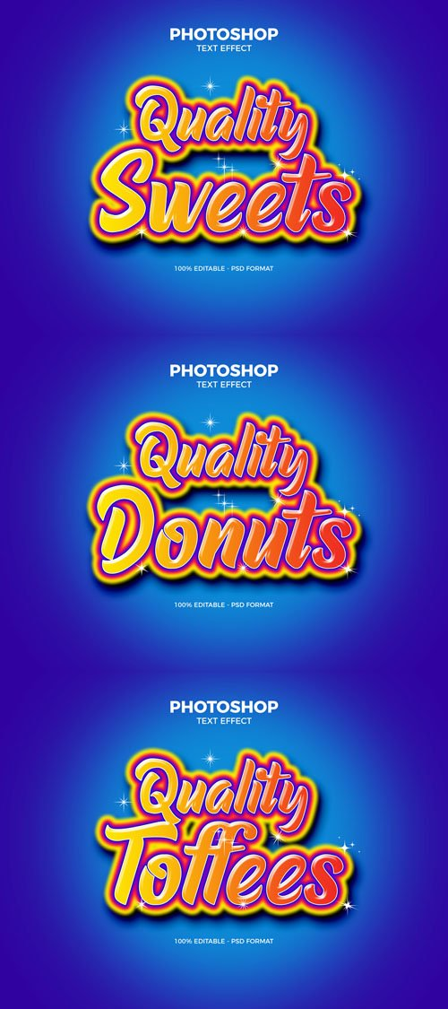 Quality Sweets Photoshop Text Effect