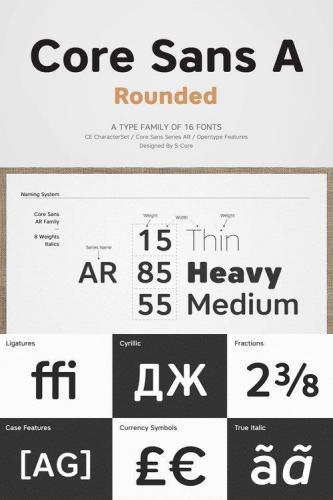Core Sans AR Font Family