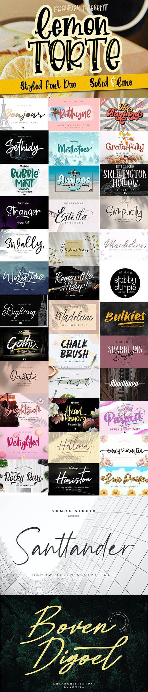 Super Fonts Pack Vol.5 [Aug/2020] - 39 Fonts