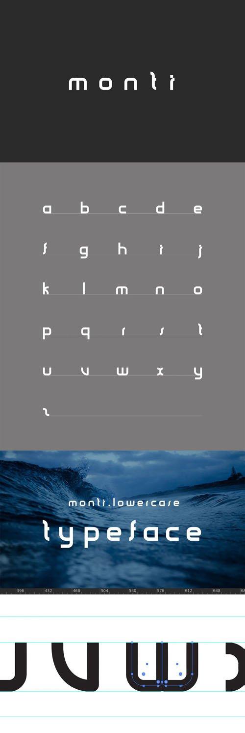 Monti Minimal Typeface