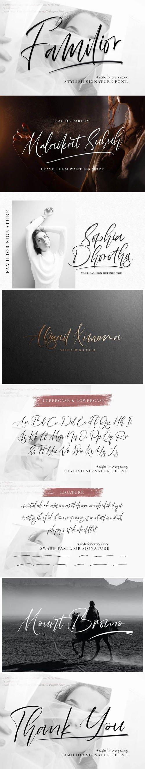 Familior - Stylish Signature Font [2-Weights]