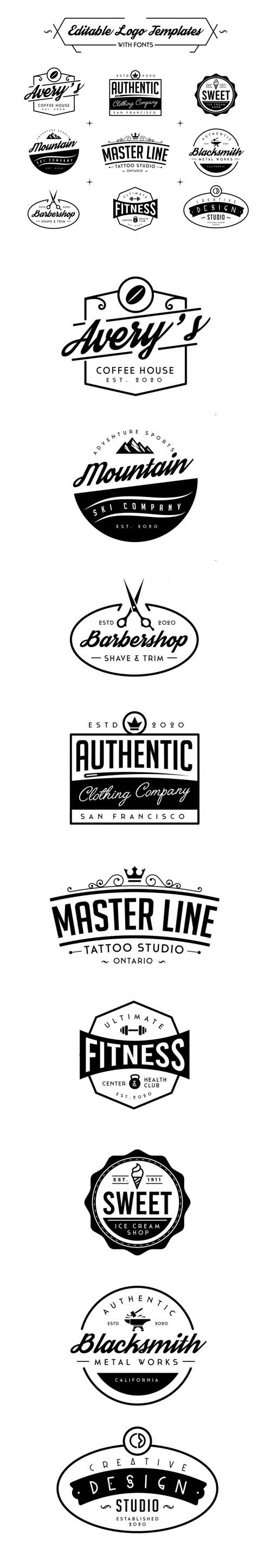 Professional & Editable Logo Templates In Vector