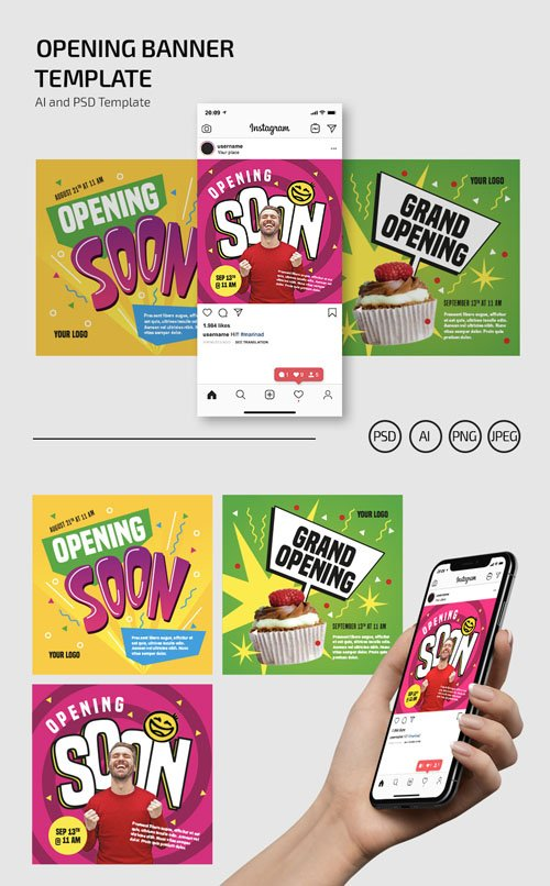 Opening Banner [Ai/PSD] Templates