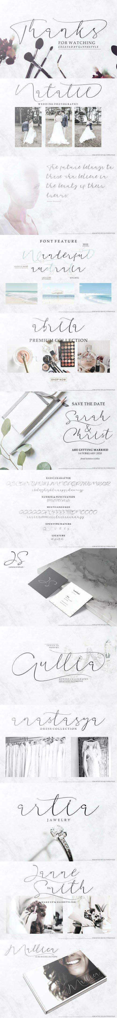 Aullia - Modern Calligraphy Font