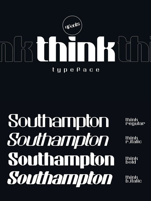 Think Typeface [2-Weights]