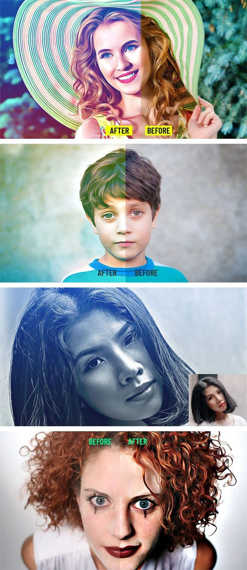 Realistic Painting Photoshop CS4+ Actions
