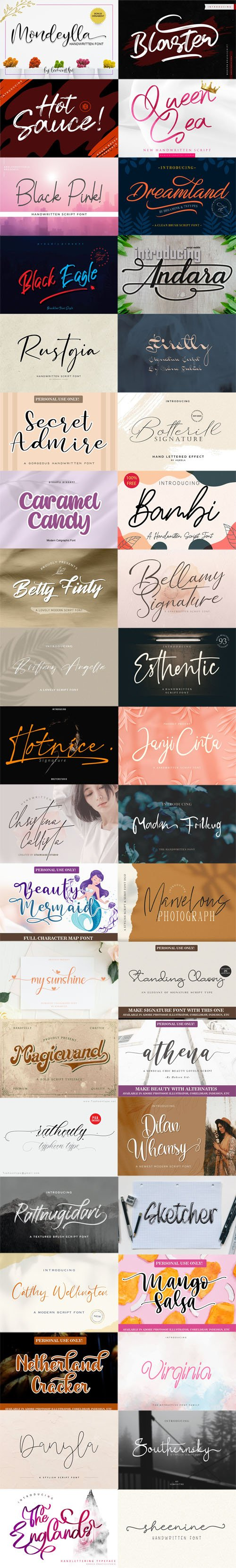 40 New Fonts 2020 Collection