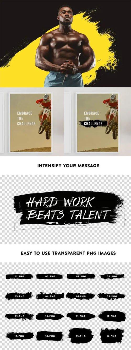 5 Grunge Stroke Brushes for Photoshop