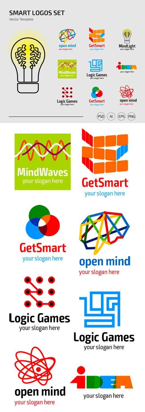 Smart Logos Set Vector Templates