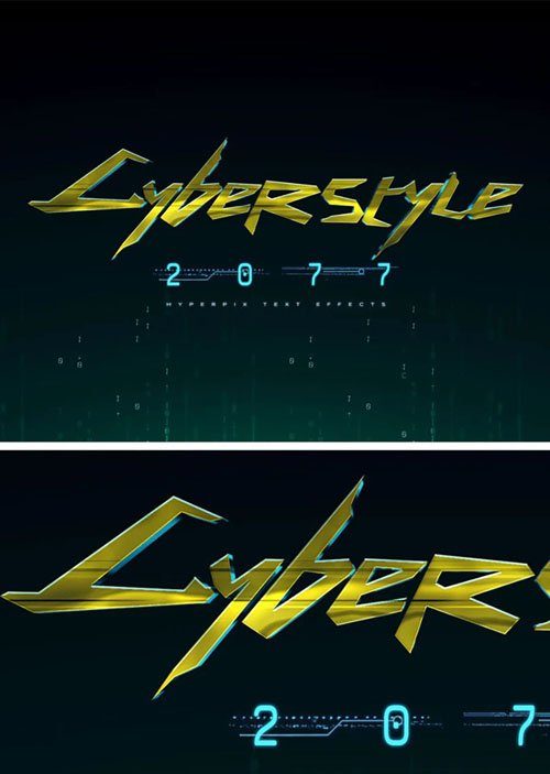 Cyberpunk 2077 Photoshop Text Effect