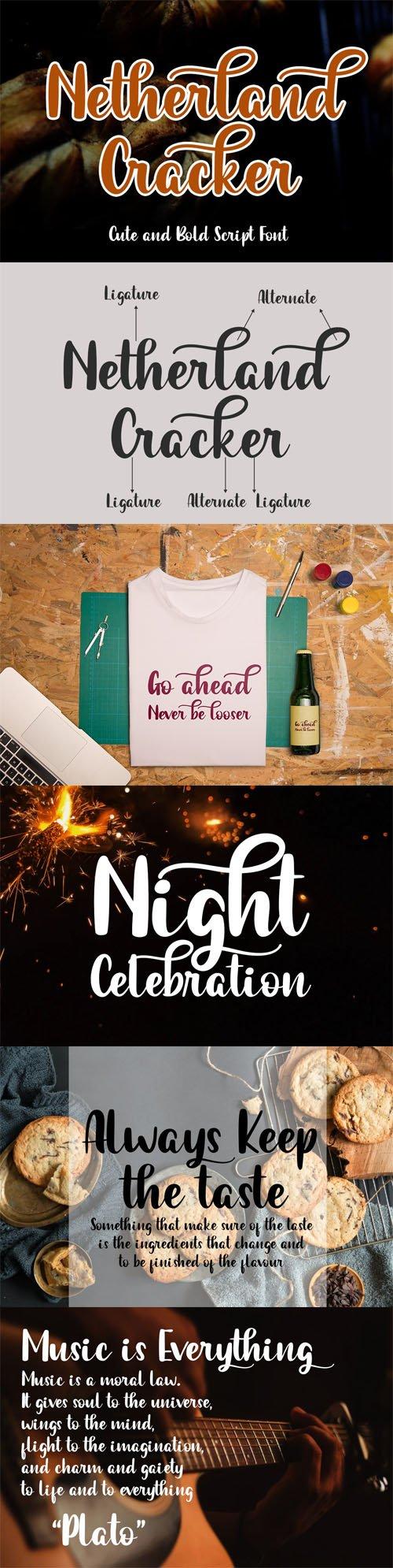 Netherland Cracker - Cute & Bold Script Font