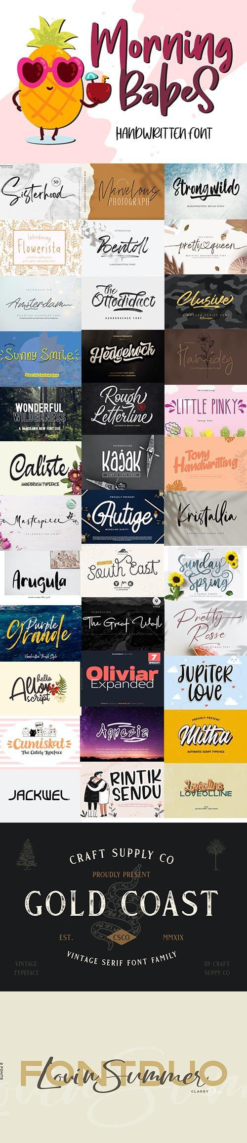 Super Fonts Pack Vol.5 [July/2020] - 40 Fonts