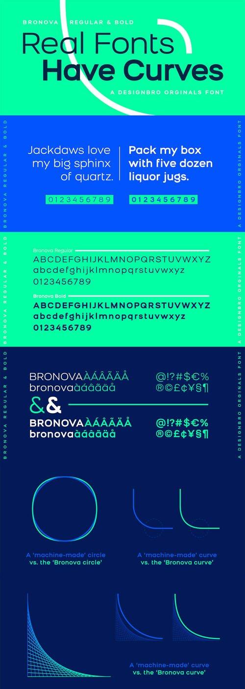 Bronova Sans Serif Font Family [2-Weights]