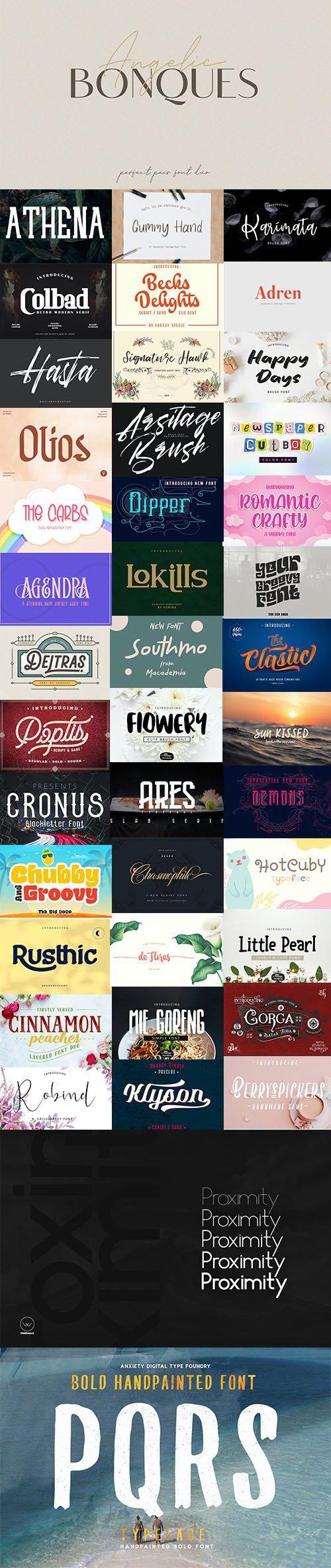 Super Fonts Pack Vol.2 [Aug/2020] - 42 Fonts