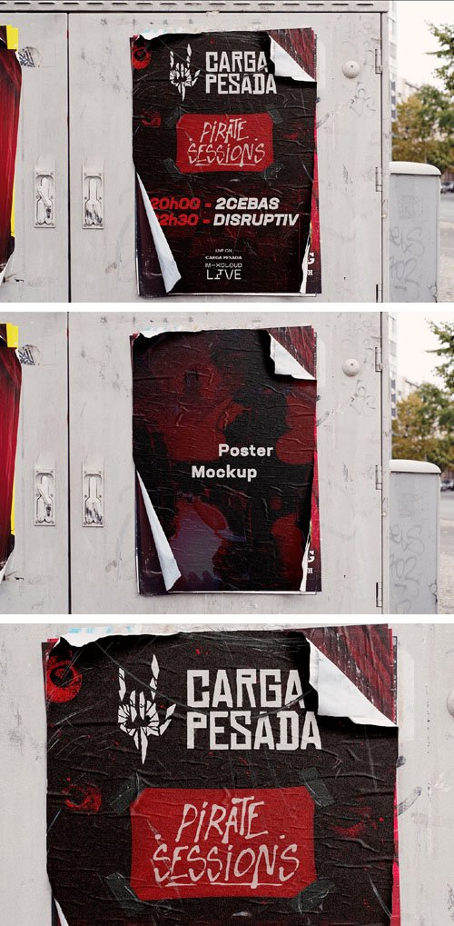 Street Poster PSD Mockup