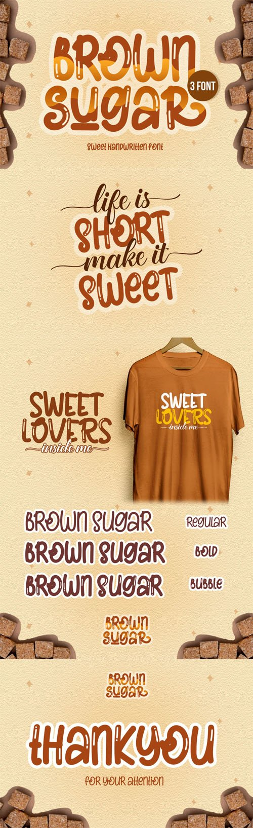 Brown Sugar - Sweet Handwritten Font [2-Weights]