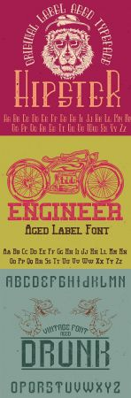Original label typeface Good to use in any label design
